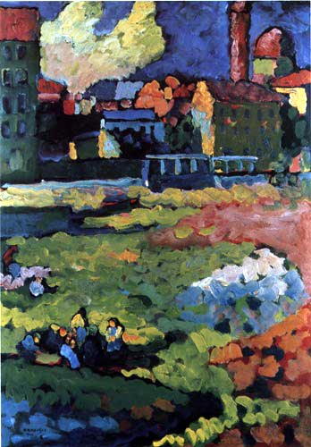 Wassily Wassilyevich Kandinsky -  Munich, Schwabing with Ursula church