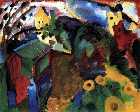 Wassily Wassilyevich Kandinsky - Murnau, Garden I