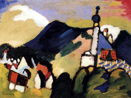 Vassily Kandinsky - Murnau avec église II