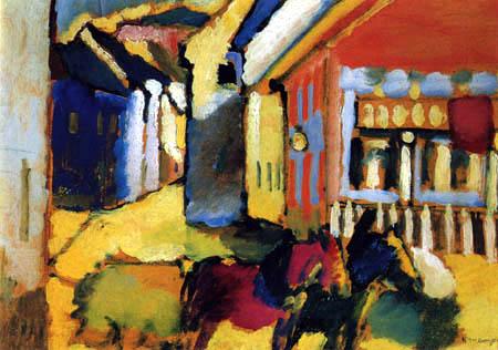 Wassily Kandinsky - Murnau, Straße mit Gespann