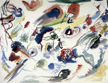 Wassily Wassilyevich Kandinsky - No title, first abstract watercolor