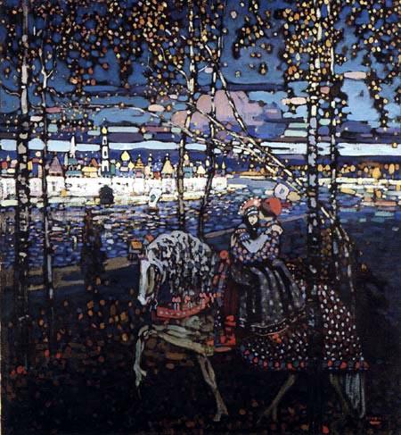 Wassily Kandinsky - Reitendes Paar