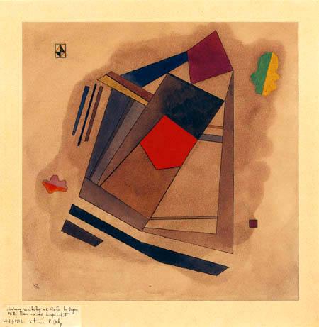 Wassily Kandinsky - Rot im Quadrat