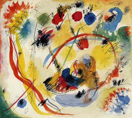 Wassily Wassilyevich Kandinsky - Red and Blue