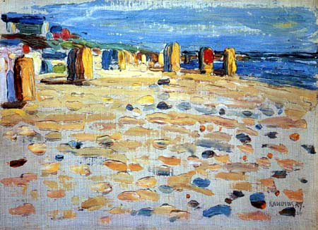 Wassily Wassilyevich Kandinsky - Beach chairs in Holland
