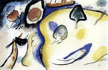 Wassily Wassilyevich Kandinsky - Study for Improvisation 25