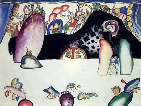 Wassily Wassilyevich Kandinsky - Scenic composition violet, Figure II