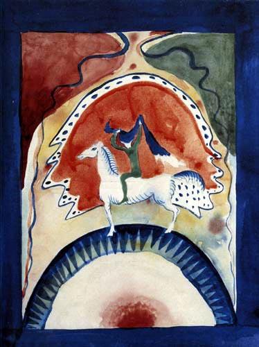 Wassily Kandinsky - Umschlagentwurf mit Reiter