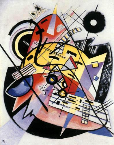 Wassily Kandinsky - Weisser Punkt, Komposition 248