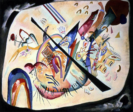 Wassily Kandinsky - Weisses Oval, Schwarzer Rand