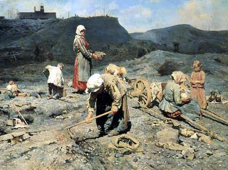 Nikolai(j) Alexejewitsch Kassatkin - Kohlensammler in stillgelegter Grube