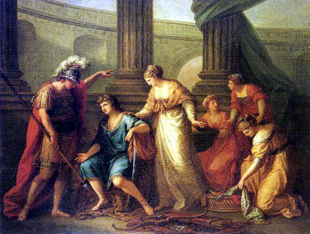 Angelica (Maria Anna Catharina) Kauffmann - Confrontation between Hector and Paris
