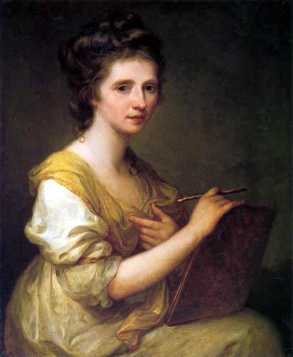 Angelica (Maria Anna Catharina) Kauffmann - Selfportrait
