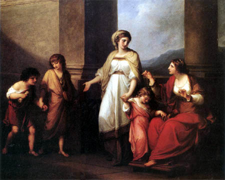 Angelica (Maria Anna Catharina) Kauffmann - Cornelia, mother of the Gracchi