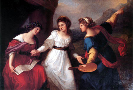 Angelica (Maria Anna Catharina) Kauffmann - The decision between music and painting