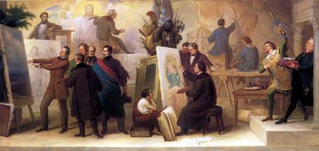 Wilhelm von Kaulbach - Artist studio