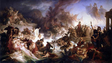 Wilhelm von Kaulbach - The sea-battle near Salamis