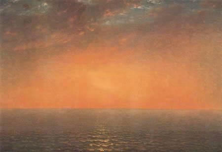 John Frederick Kensett - Sunset at the sea