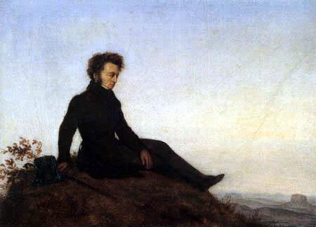 Georg Friedrich Kersting - Wanderer in der Sächsischen Schweiz