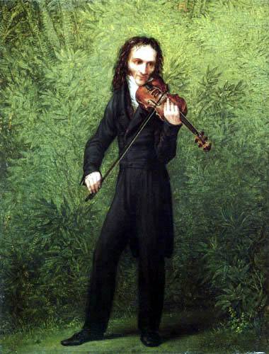 Georg Friedrich Kersting - The Violin Player Niccolò Paganini