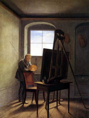 Georg Friedrich Kersting - C. D. Friedrich in the studio