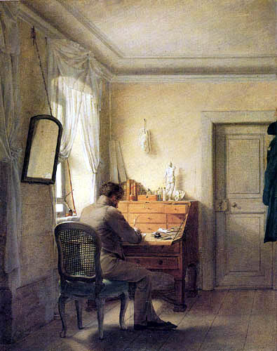 Georg Friedrich Kersting - Kügelgen at the desk