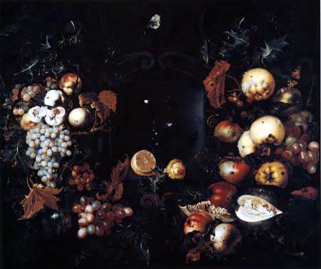 Jan van Kessel - Clusters and fruits
