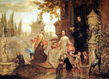 Jan van Kessel the Younger - Family in a garden