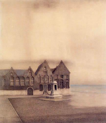 Fernand Khnopff - Une ville abandonnée