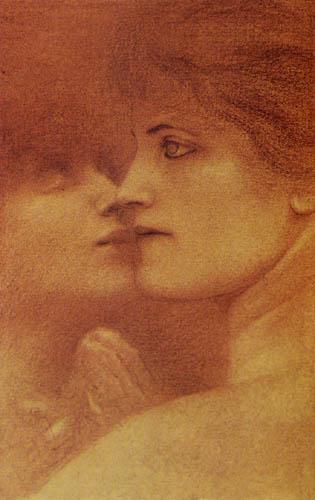 Fernand Khnopff - Estudio de una mujer