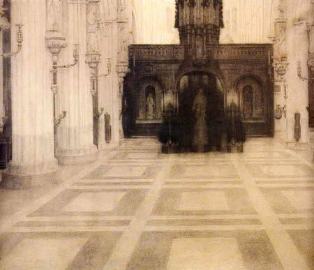 Fernand Khnopff - Una iglesia en Brujas