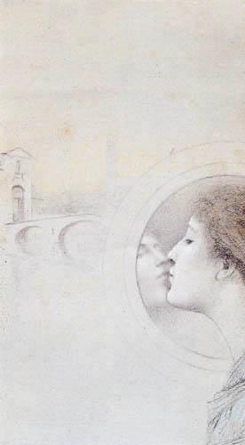 Fernand Khnopff - Avec Grégoire le Roy. Mein Herz weint.