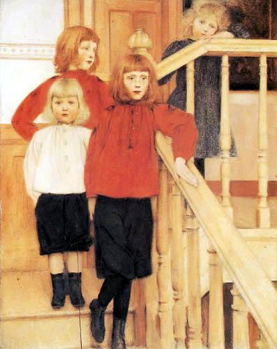 Fernand Khnopff - Retrato de los hijos de Monsieur Nève
