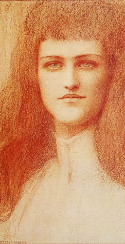 Fernand Khnopff - The head of a young Englishwoman