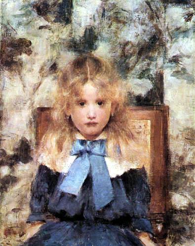 Fernand Khnopff - Portrait of a girl