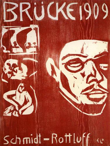 Ernst Ludwig Kirchner - Titel der IV. Brücke-Mappe für Schmidt-Rottluff