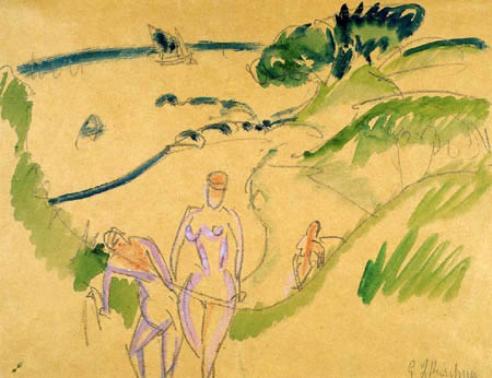 Ernst Ludwig Kirchner - Bathers in Fehmarn