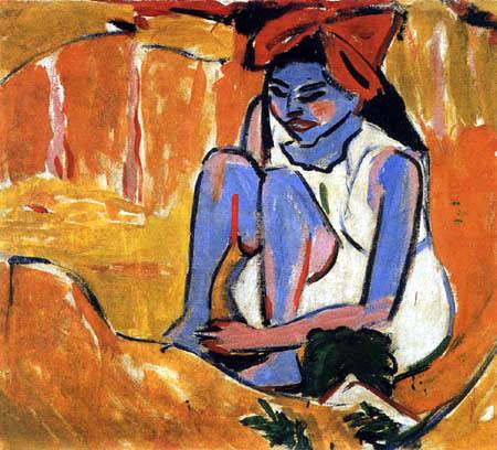 Ernst Ludwig Kirchner - Das blaue Mädchen in der Sonne
