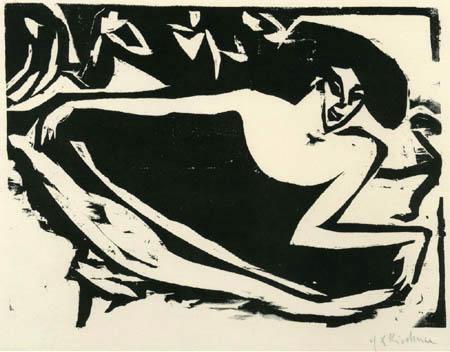 Ernst Ludwig Kirchner - Tänzerin mit gehobenem Rock