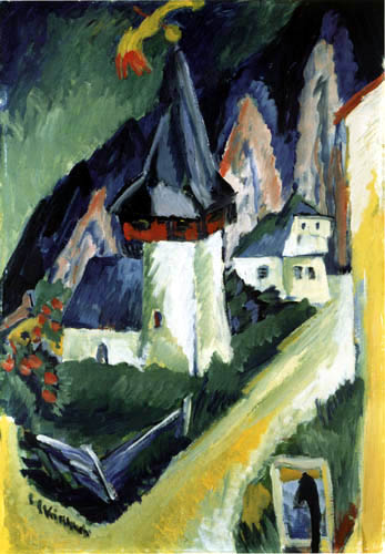 Ernst Ludwig Kirchner - View of the Church of Monstein