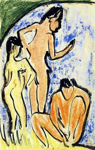 Ernst Ludwig Kirchner - Badende am Teich