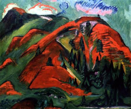 Ernst Ludwig Kirchner - Trees on mountainside