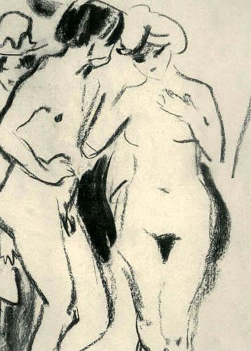 Ernst Ludwig Kirchner - Stehende Akte