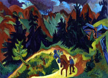 Ernst Ludwig Kirchner - Mountain Landscape