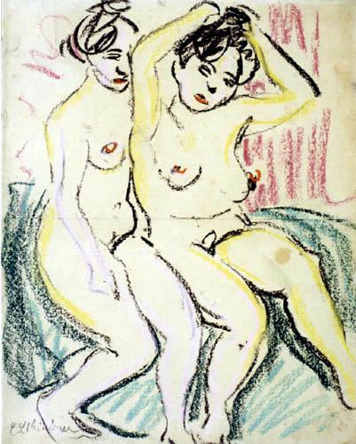 Ernst Ludwig Kirchner - Zwei sitzende Akte