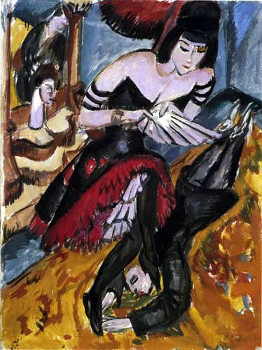 Ernst Ludwig Kirchner - Pantomime Reimann, Die Rache der Tänzerin