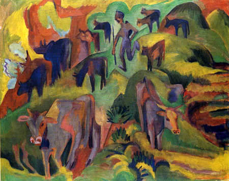 Ernst Ludwig Kirchner - Return of the cows