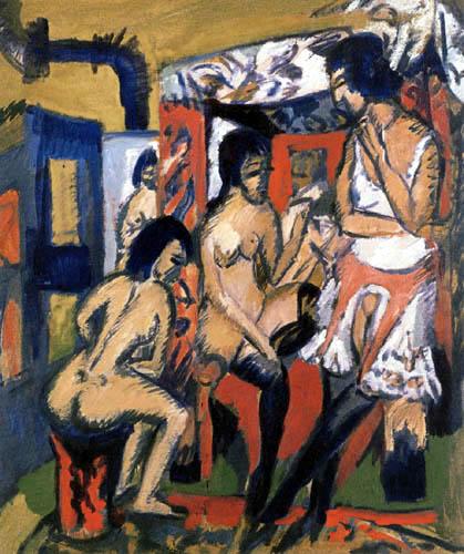 Ernst Ludwig Kirchner - Drei Modelle im Atelier