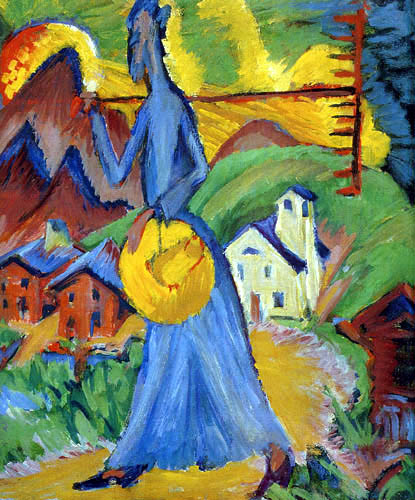 Ernst Ludwig Kirchner - Alpine way of life, Triptych right