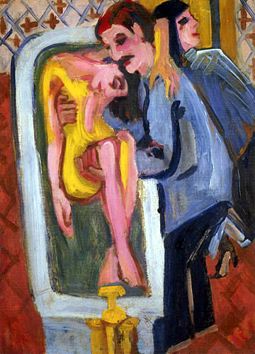 Ernst Ludwig Kirchner - The bathing of the patient